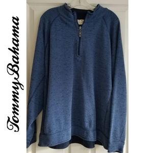 TOMMY BAHAMA Men's Reversible 1/4 Zip Pullover XL
